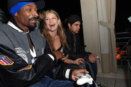 Snoop Dogg, Fergie of the Black Eyed Peas and Wilmer Valderrama