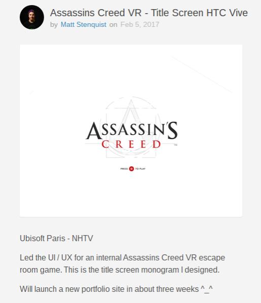 Ekran tytułowy na HTC Vive