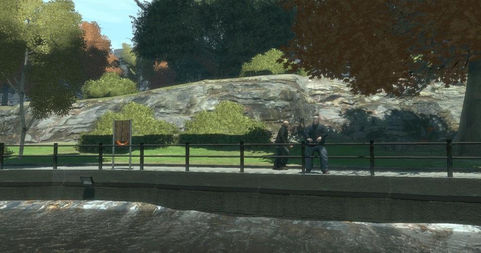 Niby zwykły park z GTA IV