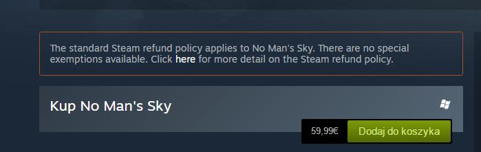 NMS na Steamie dostał nawet specjalną ramkę z informacją