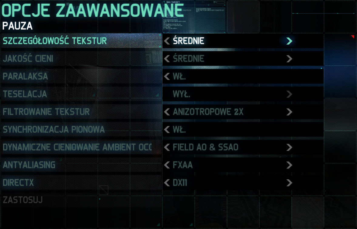 Splinter Cell: Blacklist jakość średnia