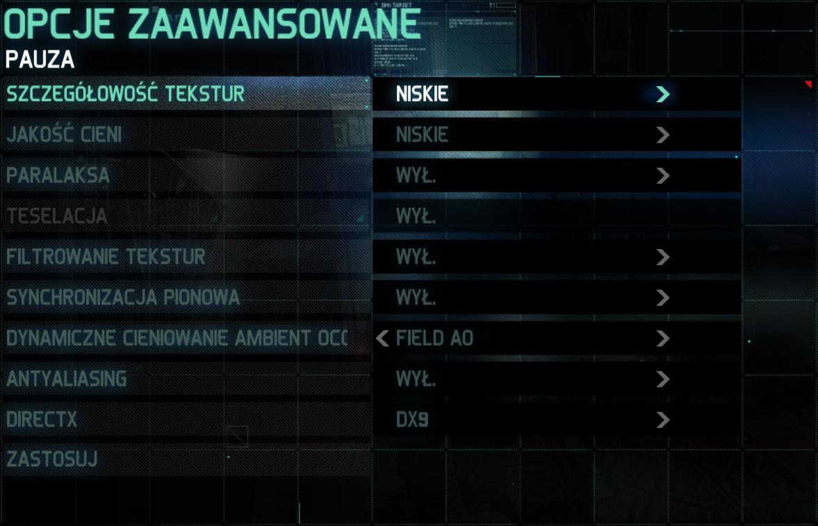 Splinter Cell: Blacklist jakość najniższa