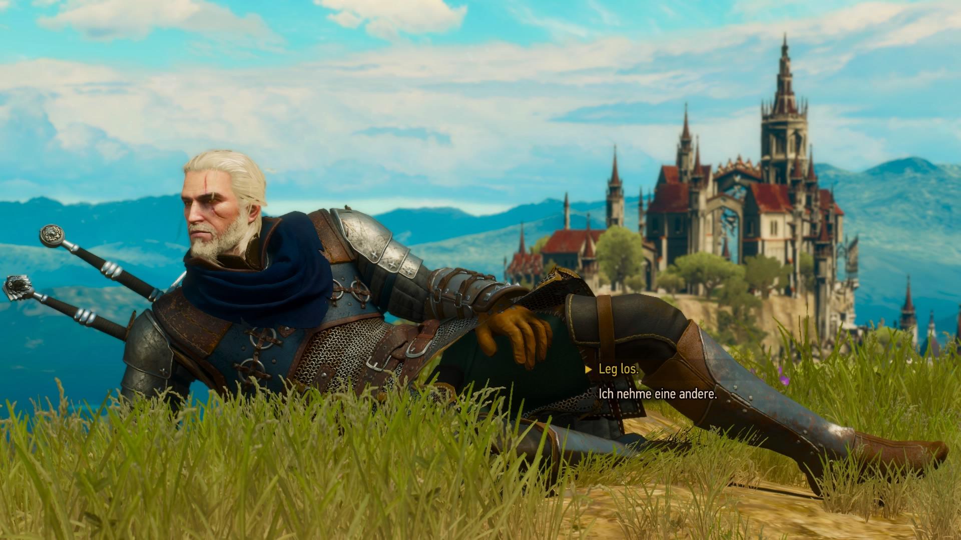 Geralt jak zwykle na luzie