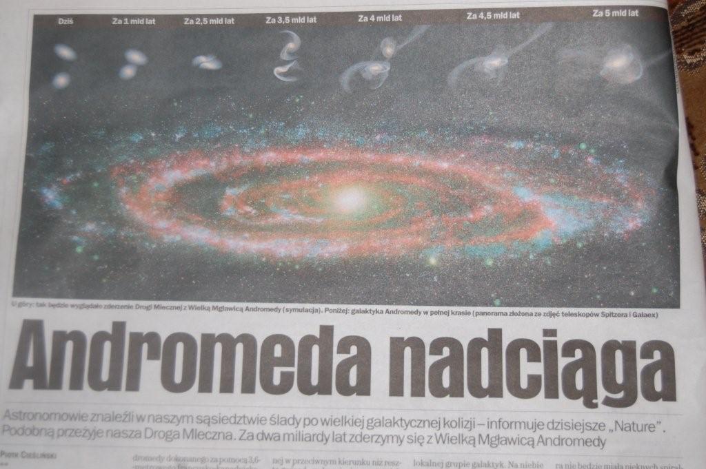 Nie mają wyborczej, to nie wiedzą, że Andromeda sama do nas przyjdzie