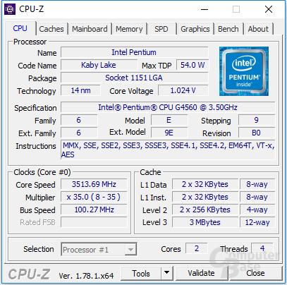 Intel-Pentium-G4560-CPUz
